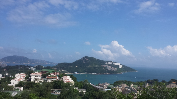 Repulse Bay viewed from double decker bus