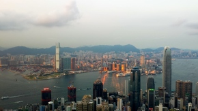 Hong Kong skyline view from the peak