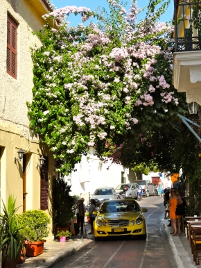 Cute street in Plaka neighbourhood