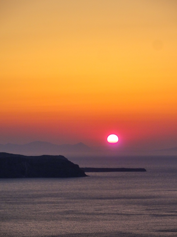 Sunset viewed from Archipelagos, Fira