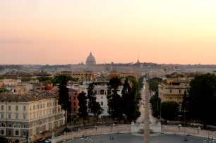 Sunset over Rome