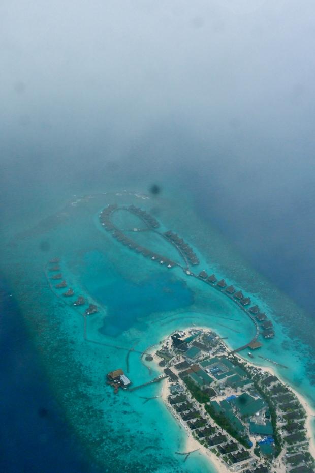 Maldives: Through the seaplane window