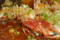 Prawns in garlic & soy sauce