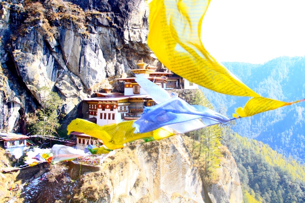 Yellow - Taktsang Monastery in Bhutan