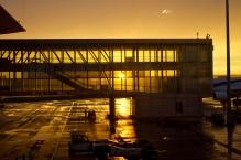 Sunset at Beijing airport