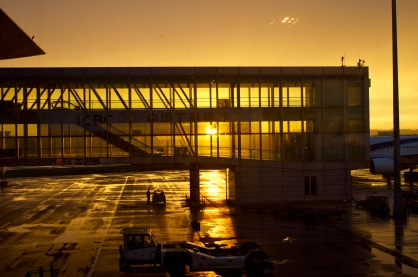 Sunset at Beijing airport