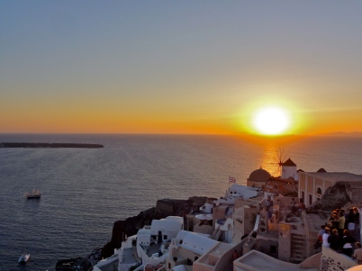 Sunset in Oia Santorini