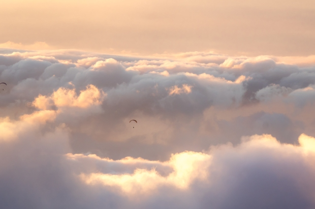 Paragliding at Haleakala
