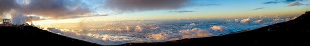 at summit of Haleakala crater