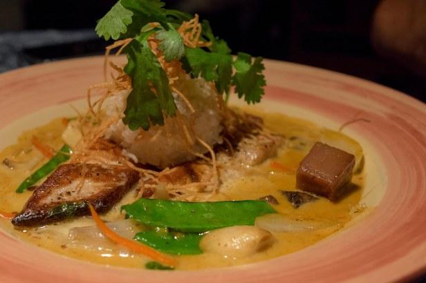 Ono Mahimahi and Ahi in Panang curry