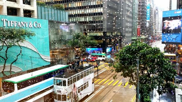 Hong Kong Central street scene