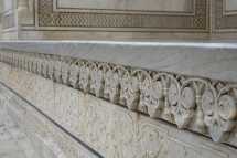 Marble carvings on the outer walls