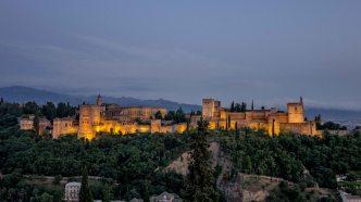 Alhambra viewed from Plaza de San Nicolas