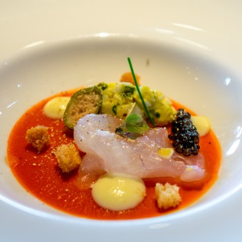 Marinated seabream, Le Jules Verne