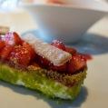 Strawberry shortbread, Le Jules Verne by Alain Ducasse