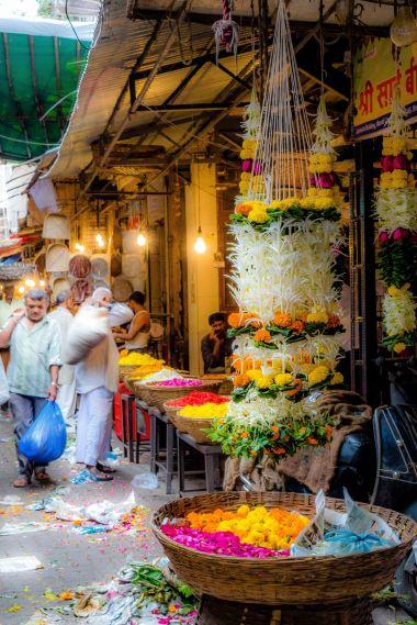 Flower market Mumbai