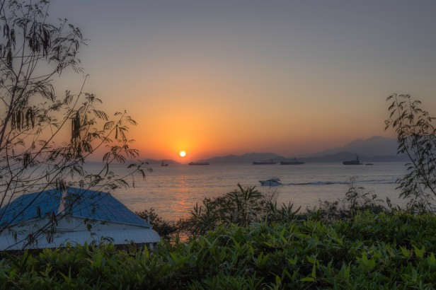 Sunset from HK island
