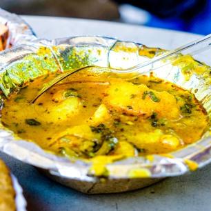 Spicy aaloo subzi Delhi street food