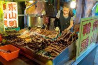 Raohe Street Night Market meat vendor